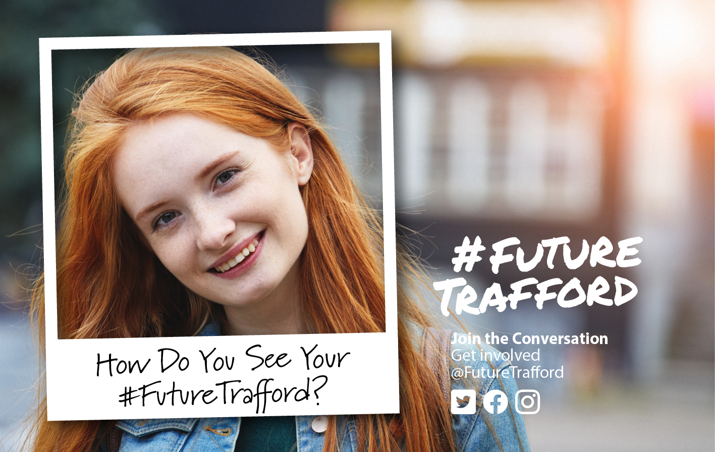 FutureTrafford join the conversation image of a twenty something woman